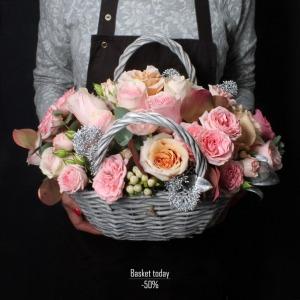 """Стоимость без скидки 6090 рублей. """"Корзина дня"""" 15 февраля 2018 г - цветы Иркутск - Fashion Flowers. Мы предоставим скидку."""
