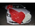 Свадебный автомобиль в Уфе. Прокат, аренда автомобилей с водителем на вашу свадьбу. Прокат украшений для автомобиля.