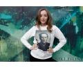 """Женский свитшот молочный """"Jack Nicholson"""" - http://Niki.filini & Friends Shop, дизайнерская одежда, г. Вологда."""
