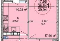 Внимание! Только до конца ноября действует специальное предложение скидка 1500 р. просторная 1-комнатная квартира 39 94 кв, г. Краснодар.