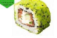 Получите свою скидку 15%. Лосось сливочный сыр огурец зеленый лук тобико - суши миюши, г. Мытищи. Новые скидки в интернете.