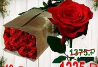 """5% скидка на товар по акции не распространяется. Мы продаем 25 колумбийских роз """"Фридом"""" длиной 50 см, г. Санкт-петербург. У нас лучшие скидки сегодня."""